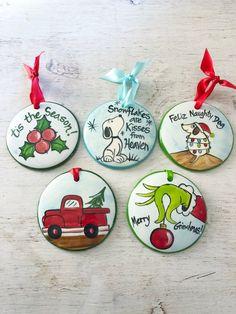 Holiday Ornament pakket 5 ornamenten handbeschilderd | Etsy