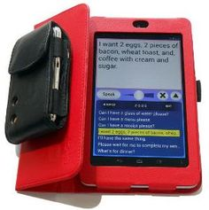 "Android-based tablet (fundable SGD) - PolyAndro runs the ""Persona for Android"" text-to-speech app on a Nexus 7 (Android) tablet. It comes with a case and a add-on speaker."