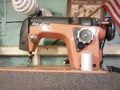 Vintage Sewing Machine Belair Pink and Gray
