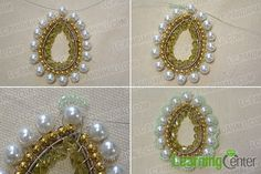Add some seed beads around the white pearl bead