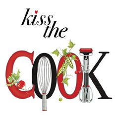 Kiss the cook-Mary Lake Thompson's work. Joy Of Cooking, Cooking Tips, Chefs, Rivera Maison, Kitchen Clipart, Decoupage, Kiss The Cook, Recipe Scrapbook, Le Chef