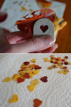 Fall leaf confetti - for table decorations or throwing!