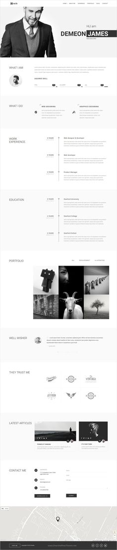 Personal Resume Resumenico  Very Simple Matters  Personal  Pinterest