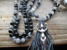 The Goddess Mala - goddess mala, goddess prayer beads, wiccan mala, wiccan prayer beads, witch mala, witch prayer beads, pagan mala by MagickAlive on Etsy