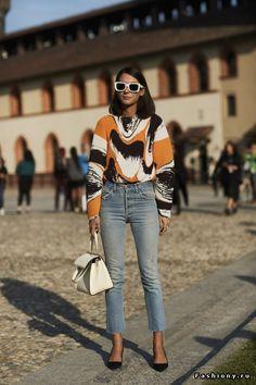 Milan Fashion Week весна-лето 2018 - street style