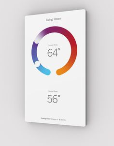 The Home Automation Panel That& Infographic Art - They include classic functions, like temperature, presented in a more beautiful, touch-tweakable way. Mobile App Design, Mobile Ui, Web Design, Graphic Design, Design Thinking, Apps, Design Innovation, Business Innovation, Home Thermostat