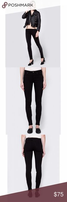 Acne Studios Skin 5 Skinny Jeans - Black Skinny jeans from Acne Studios in Black. Zip fly with top button closure. Classic five pocket styling. Branded buttons and rivets. Mid rise. Slim fit. Worn only a few times, great condition! Acne Jeans Ankle & Cropped