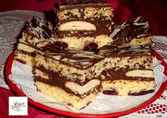 (1) Rumos meggyes, csokis krémes szelet   Edit56 receptje - Cookpad receptek Tiramisu, Ethnic Recipes, Food, Essen, Meals, Tiramisu Cake, Yemek, Eten