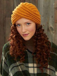 Turban Twist Hat | Yarn | Free Knitting Patterns | Crochet Patterns | Yarnspirations. ☀CQ #crochet  #apparel  http://www.pinterest.com/CoronaQueen/crochet-apparel-corona/