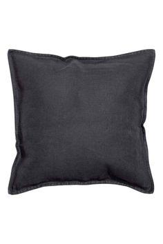 Funda de cojín en lino lavado: ALTA CALIDAD. Funda de cojín en tejido de lino. Cremallera oculta. Secar en secadora para preservar la suavidad del lino.