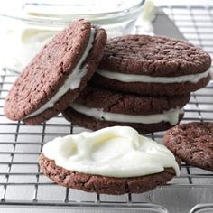 Peppermint Patty Sandwich Cookies Recipe from Taste of Home