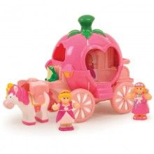 Every pre-school toy by WOW Toys is created with no sharp edges or small parts, no PVC, BPA and non-toxic paint, The best bit is no batteries are required, so the fun never ends! Toddler Toys suitable for ages from years. Holiday Gift Guide, Holiday Gifts, Christmas Gifts, Toddler Toys, Kids Toys, Toys Uk, Princess Carriage, Pumpkin Carriage, Preschool Toys