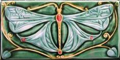 Art Nouveau Verdant Tiles - 6 X 12 inch