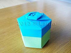 Laura fa: Scatolina esagonale origami con coperchio