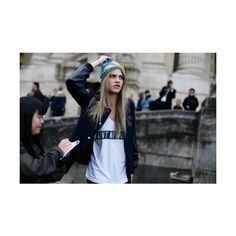 Cara Delevingne funny face! ❤ liked on Polyvore