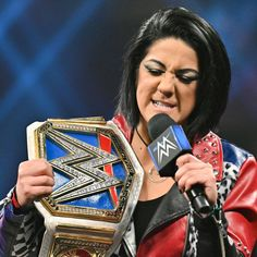 Bayley makes a guest appearance on Miz TV and the SmackDown Women's Champion unleashes on the WWE Universe why she slashed her Bayley Buddies. Female Wrestlers, Wwe Wrestlers, Wwe United States Championship, Bailey Wwe, Pamela Rose Martinez, Wwe Girls, Wwe Champions, Raw Women's Champion, Wrestling Divas