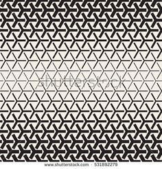 Halftone Gradient Mosaic Lattice. Abstract Geometric Background Design. Vector Seamless Black and White Pattern.