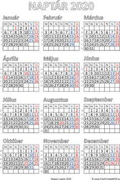 Ingyenes naptár nyomtatás 2020 | Szabad fájlok PDF nyomtatás Hijri Calendar, Planner Organization, New Media, Filofax, Booklet, Layout Design, Periodic Table, Bullet Journal, Printables