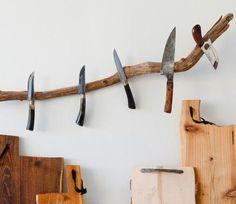 Magnetic Tree Branch Kitchen Knife Holder