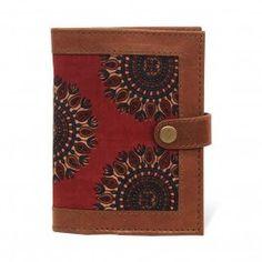 Leather Passport Holder in Brown