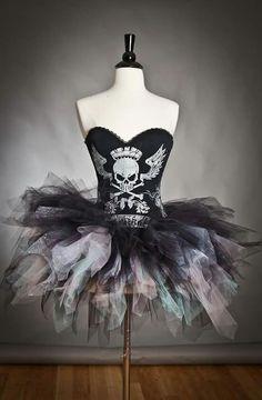 Skull/tutu dress