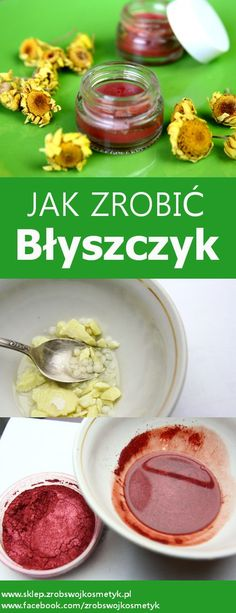 Prosty i łatwy przepis na  karminowy błyszczyk do ust , który  nawilży, nada blask i pogłębi kolor ust. Brzmi jak reklama, ale dokładnie tak... Diy Beauty, Beauty Hacks, Beauty Tips, Natural Cosmetics, Diy And Crafts, Herbs, Beef, Cleaning Supplies, Natural Beauty