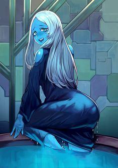 Steven Universe Lapidot, Steven Universe Movie, Universe Art, Blue Diamond Steven Universe, Fanart, Pokemon, Thicc Anime, Ecchi, Anime Art Girl