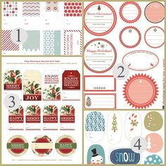 Free Printable Christmas Label Templates By Angie Sandy Design