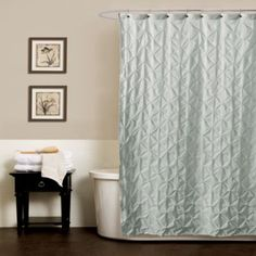 buy noelle pintuck 54inch x 78inch shower curtain in aqua from bed