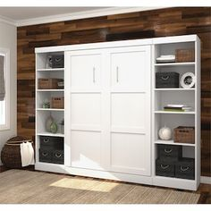 Shop Bestar Pur by Double Side Open Storage Wall Bed Kit at Lowe's Canada. Find our selection of beds at the lowest price guaranteed with price match. Murphy Bed Kits, Murphy Bed Plans, Full Size Murphy Bed, Girls Bedroom, Master Bedroom, Modern Murphy Beds, Bed Dimensions, Bed Wall, Decorate Your Room