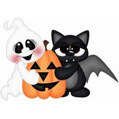 Silhouette Design Store - View Design bat & ghost w pumpkin pnc Halloween Painting, Halloween Drawings, Halloween Clipart, Halloween Items, Halloween Pictures, Halloween Crafts, Halloween Decorations, Halloween Rocks, Halloween Ghosts