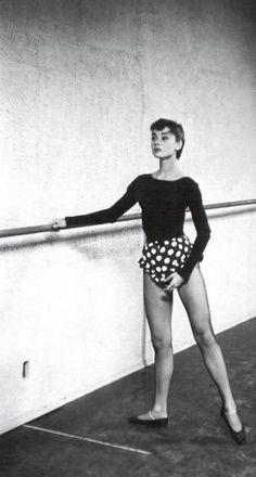 Audrey Hepburn at the barre