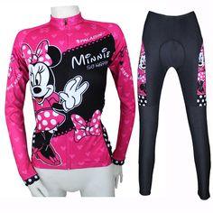 2015 latest quality fashion cycling clothing for women cartoon long jerseys and shorts/pants bike tights sportswear jerseys 857