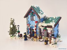 Lego Christmas Ornaments, Lego Christmas Village, Lego Winter Village, Christmas Diy, Xmas, Harry Potter Advent Calendar, Lego Advent Calendar, Casa Lego, Lego Worlds