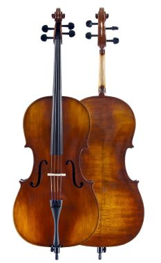 Amati Artisan B Cello Outfit makes an ideal Jr. High School instrument with a broad, even, and powerful sound.