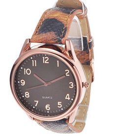 Loved it: Tropez Round Black Dial Copper Brown Strap Watch for Women, http://www.snapdeal.com/product/tropez-round-black-dial-copper/1490580891