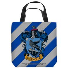 Shop New Arrivals from The Wizarding World! Ravenclaw Crest Two Sided Tote Bag from Warner Bros.