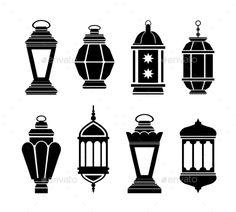 Illustration about Ramadan Kareem Arabic Lanterns. Illustration of fitr, bakra, decoration - 58863740 Eid Crafts, Ramadan Crafts, Ramadan Lantern, Ramadan Activities, Black Silhouette, Free Vector Art, Islamic Art, Doodle Art, Stencils