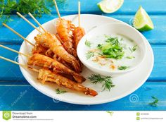 Fried Prawns With Sauce Of Yogurt - Download From Over 29 Million High Quality Stock Photos, Images, Vectors. Sign up for FREE today. Image: 45190206