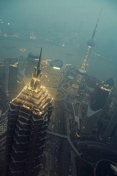Jin Mao & The Pearl, Shanghai by alex robertson, via Flickr
