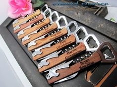 Personalized Corkscrew and MultiTool  Groomsmen Gifts  by KnifePro, $11.95