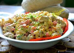 rewelacyjna sałatka z kurczakiem i makaronem Tortellini, Guacamole, Salad Recipes, Potato Salad, Food And Drink, Rice, Cooking, Ethnic Recipes, Macaroni Salads