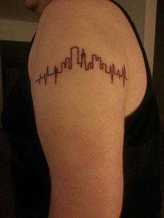 Just got this tattoo. Heartbeat with San Francisco skyline. Partly due to being raised in the Bay Area and second City Planning being my career. Designed myself.
