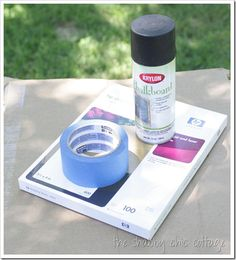 How to make chalkboard labels: use this method to coat post-it labels with chalkboard paint