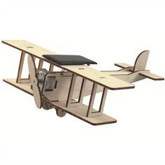 Timberkits dubbeldekker vliegtuig – Mechanische houten