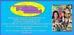 Remember to vote EVERY DAY in the Poptastic! Awards!