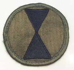 Vietnam Era US Army 7th Infantry Division Subdued Patch • CAD 5.16