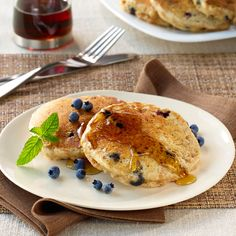 Blueberry Bran Pancakes