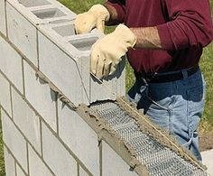 Bring privacy to your backyard with a DIY concrete block wall. Our step-by-step instructions will show you how. Bring privacy to your backyar New backyard landscaping diy cinder blocks Ideas An Easy Way to Build Retaining Walls: Leave the Concrete in the Concrete Block Walls, Cinder Block Walls, Concrete Wall, Cinder Blocks, Concrete Projects, Cinder Block Ideas, Concrete Steps, Brick Walls, Backyard Privacy