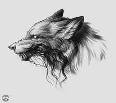 Sketch Style Tattoos, Tattoo Sketches, Tattoo Drawings, Cool Wolf Drawings, Dark Drawings, Wolf Tattoos, Body Art Tattoos, Celtic Sword Tattoo, Small Cross Tattoos